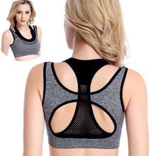 VEAMORS Professional Mesh Fitness Layered Sports Bra Women Sports Yoga Tops , Yoga Fitness Vest Bra Workout Running Push-up Bras