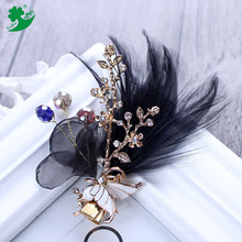 New Arrival Hot sale small Feather pearl Hair Clips Clip para el pelo Wedding hair accessories headdress Manufacturer 78016