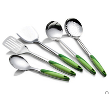 5PCS/Set Stainless steel kitchen supplies shovel kitchenware cookware cooking Rice/Soup Spoon/Colander/Drain shovel/Spatula(China)