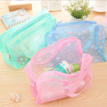 2015 New Arrival Cute Women Travel Makeup Bag Flower Printed Women Cosmetic Bags  5 Colors