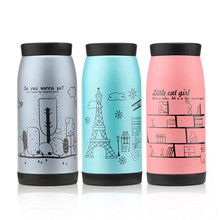 250 350 500 ml Hot Korean Stainless Steel Tea Water Coffee Flask Vacuum Thermos Bottle Cup Mug New sports leakproof HJ05