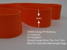 38mm 10 Yards Orange Polyester Band PP Strap Webbing Belt For DIY Handbag Shoulder Messenger Bags Buckles Strapping Accessories