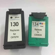 2pc For HP 130 134 Ink Cartridge For HP Deskjet 6543 5743 6623 5743 6843 6523 5943 6943 6983 7313 7413 2713 8153 for hp 130(China)