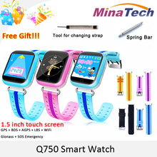 Original GPS Smart Watch Q750 Q100 Baby Smart Watch With 1.54inch Touch Screen SOS Call Location Device Tracker for Kid Safe