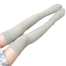 Female Girl Autumn Winter Long Knee Socks Retro Casual Skinny Knitted Thigh Stockings Women Warm Knee High Socks(China)