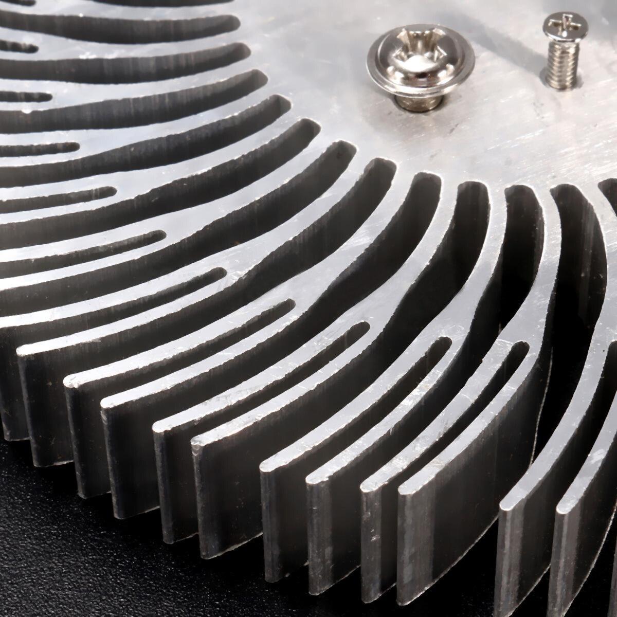 High Quality Aluminum Heatsink Radiator 90*10mm For 10W High Power LED Lamp Light Round Spiral Heat Sink with Screws