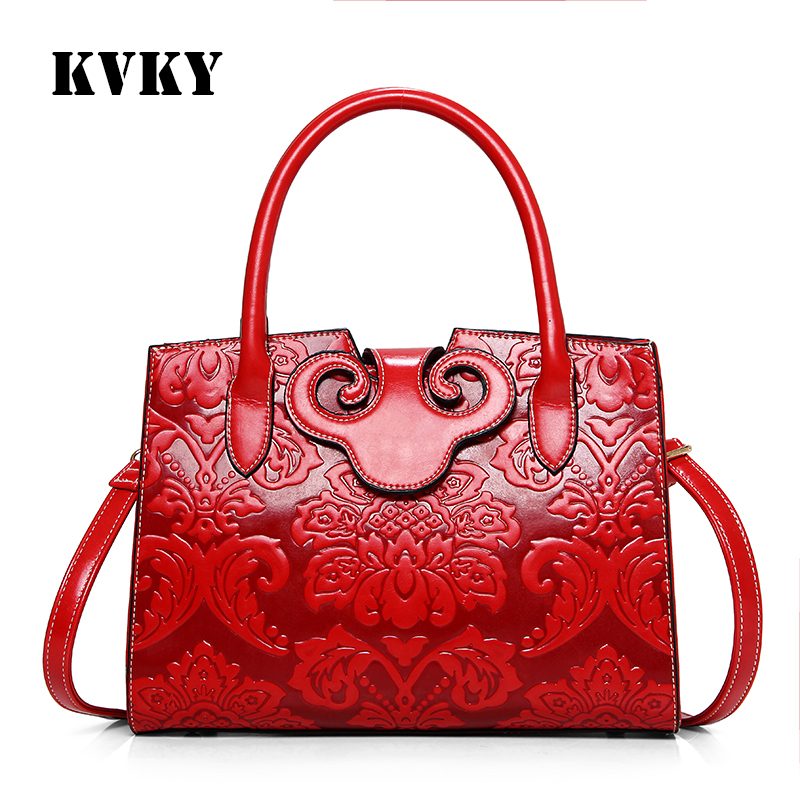Sky fantasy Chinese style hot red embossed PU fashion casual PU cross body women handbag vogue popular cute youth girls tote<br>