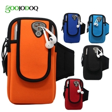 GOOJODOQ For iphone 5 5S SE 6 6S 7 / 7 plus Gym Sports Running Armband Phone Case Cover Bag Arm Band Pouch Belt Wrist Strap(China)