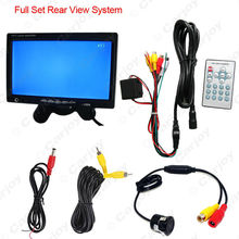 "7"" Headrest Standalone TFT LCD Monitor With CCD Mini Camera Car Rearview Systme DC12V  #CA3756"