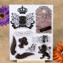 Post Card BY AIR MAIL Scrapbook DIY photo cards account rubber stamp clear stamp transparent stamp 14x18cm KW692424(China)