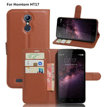 Coque For Homtom HT 17 Flip Luxury PU Leather Wallet Stand Holder Mobile Cell Phone Cover Case For Homtom HT17 Funda Capa Hot