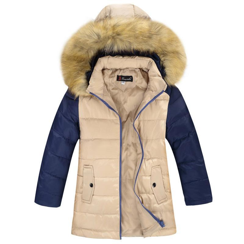 2017 New Boy Winter Coat Hooded Children Patchwork Down Baby Girl Winter Jacket Boys Kids Warm Outerwear Parks 7 to 14 YearsОдежда и ак�е��уары<br><br><br>Aliexpress
