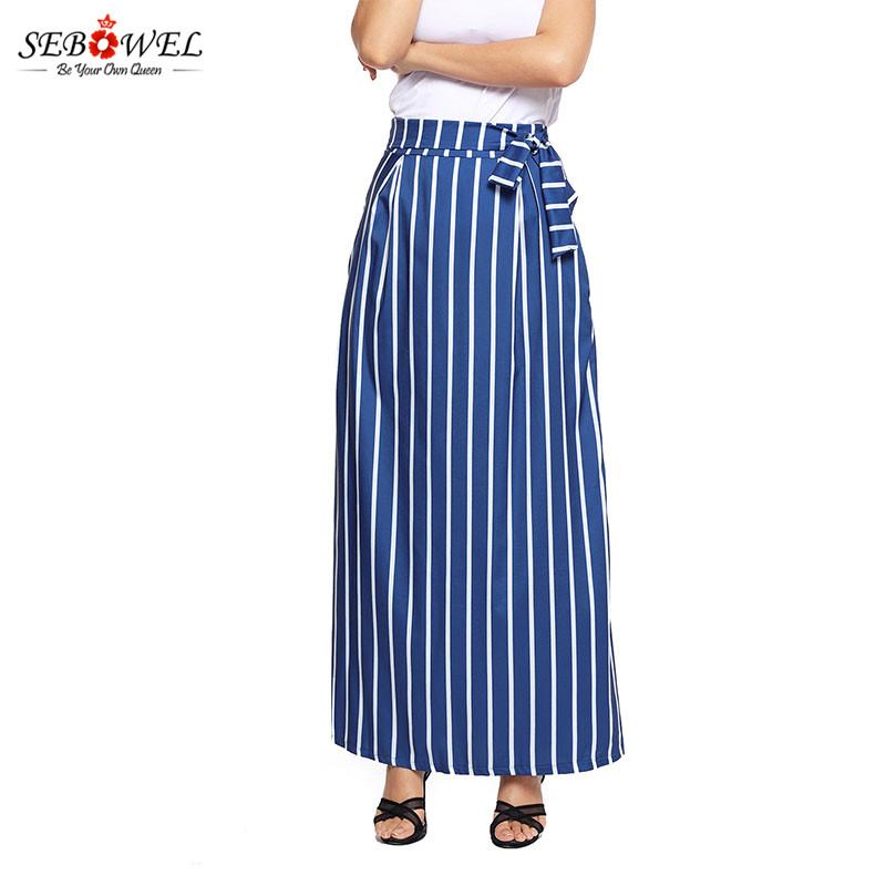 Dark-Blue-Striped-Maxi-Skirt-LC65037-5-9