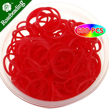 Red Loom Bands Value Pack of 600pcs Bands Plus 24pcs S-clasp,rubber bands for loom bands,loom hook-D1469