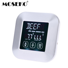MOSEKO Touch Screen Digital Multifunction Oven Thermometer Meat Food Probe BBQ Kitchen Thermometer Cooking Tools with Timer(China)