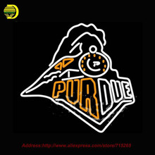 Neon Sign Custom Purdue University Train Logo Glass Tube Handcrafted Recreation College Iconic Sign Neon Window Lights VD 28x24(China)