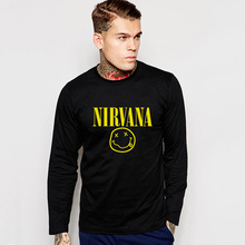 Kurt Cobain Kurt Kobo Grunge Long Sleeve T-Shirt Cotton Rock Music Team Heavy Metal NIRVANA Nirvana T shirt