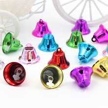 5Pcs Beautiful Metal Beads Jingle Bells Christmas Decoration Pendants DIY Crafts Handmade Accessories Size 30*25*15mm