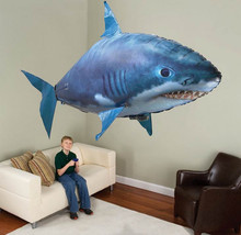 NEW RC Flying Remote Control Inflatable Fish Shark Blimp Balloon Children's Day Gift Halloween Party funny Holiday Party