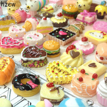 hzew Free shipping (100 pieces/lot) Resin Cat Cookie Bread Cake Doughnut Artificial Fake Food Cake Pendant