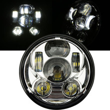 Motos Accessories 5-3/4 LED Headlight For Harley Davidson 883 Motorcycle Projector Hight/ Low HID Front Driving Head Light