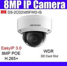 Overseas version HIK DS-2CD2185FWD-IS 8MP Network mini dome security CCTV Camera POE EZVIZ IR H.265+ 8 mp wdr IP camera(China)
