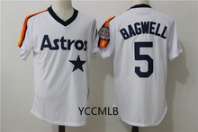 MLB Men's Houston Stitched Astros 5 Bigwell 2017 White/Orange Home Baseball Cool Base Player Throwback Jersey Free Shipping(China)