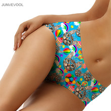 Buy Panties Plus Size Bowknot Cat Print New Fashion Sexy Women G-String 3D Thongs Seamless Briefs Lingerie Underwear Blue