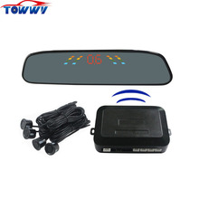 OEPZ306-W 4 Sensors Car Wireless Parking Sensor System With Numeral and Color LED Display Alarm by BiBi Sound