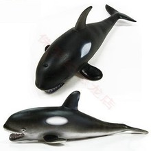 26cm Soft Sea Life Killer Whale Animal Model Action & Toy Figures Learning & Educational Marine Christmas Gift for Kids(China)