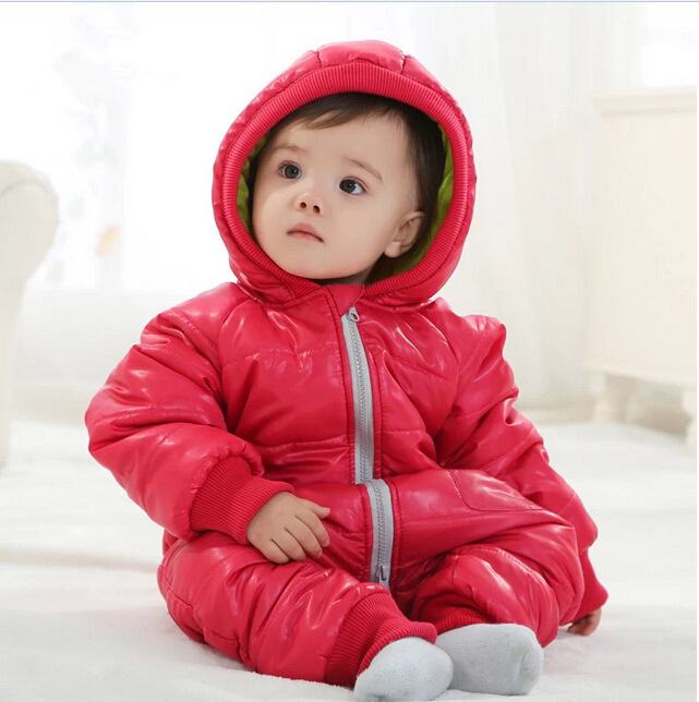 Winter Baby Snowsuit Baby Boys Girls Rompers Infant Jumpsuit Toddler Hooded Clothes Thicken Down Coat Outwear Coverall Snow Wear<br><br>Aliexpress