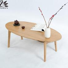 LANSKAYA Creative Modern Nordic  Asian  Bamboo Retractable Folding Table Loft Style Furniture Japanese