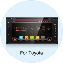 "2 din 6.95""android 6.0 200*100 Car DVD player GPS+BT+Radio+Touch Screen+car pc+aduio+Stereo+Video For Toyota Hilux Camry Corolla(China)"