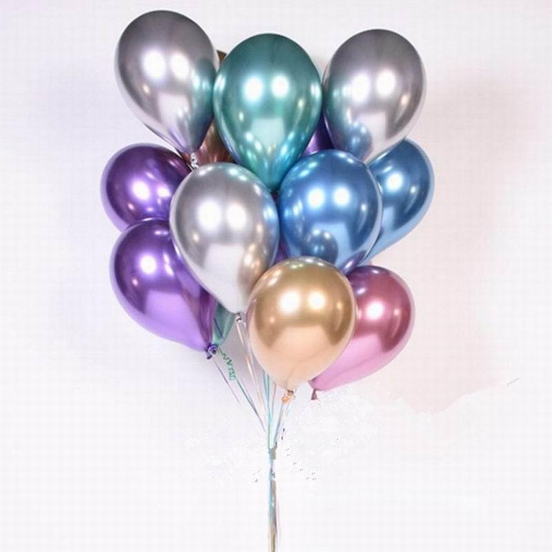 """10/"""" Pulgadas de Cromo Perla Metálico Ballons Látex celebración de cumpleaños en casa 10-50Pcs"""