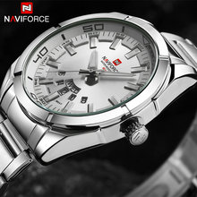 Buy 2018 NAVIFORCE Top Brand Analog Quartz Wrist-Watch Men Silver-Steel Date Clock Mens Waterproof Sport Watches Relogio Masculino for $17.50 in AliExpress store