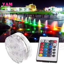 New Waterproof LED RGB Submersible Light Wedding Party Vase Lamp +Remote Control #G205M# Best Quality