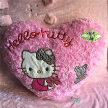 60cm Original Hello KT Cat Heart Pink Bear Cute Stuff Push Pillow Toy Girl Birthday Valentine Gift(China)