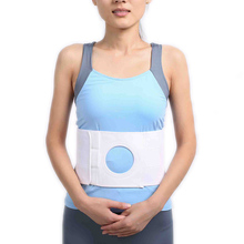 HKJD Ostomy Abdominal Binder Brace waist support wear on the abdominal stoma to fix bag and prevent parastomal hernia back brace(China)