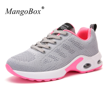 Hot Womens Sneakers Shoes 2017 Spring Summer Ladies Walking Jogging Sneakers Black Red Girls Athletic Shoes Cheap Sport Trainers(China)