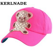 New fashion cute beauty children baby Baseball cap Wholesale rhinestone colorful childs girls boys summer snapback hat casquette