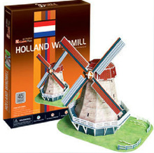 3D Puzzle Building Model Simulation Model of Holland three-dimensional Windmill Model Toys for Children Educational