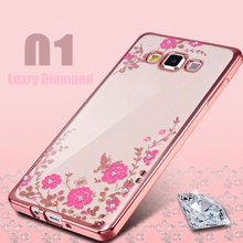 For Samsung Galaxy J7 2015 2016 J710 Royal Luxury Silicon Diamond Crystal Glitter TPU Soft Back Cover Cell Phone Case(China)