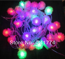 Fairy 5 m 20 Leds Snow Ball LED Holiday Lighting String Christmas Tree Lights Garland Chandelier for New Year Outdoor Decoration