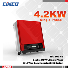 GW4200D-NS Solar power inverter 4.2kw 230v 50/60HZ, Double MPPT single phase gird tied inverter connect 250w 255w solar panel