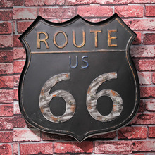 Route 66 Led Metal Sign Neon Light Open Signs Retro Bar Club Wall Decor Hanging Route 66 Tin Sign Free Shipping(China)
