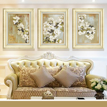 The apple blossom of modern American European style living room decoration decorative frame painting painter sofa backdrop mural(China)