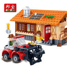 BANBAO 8583 building block set compatible with lepin farms Rural harvest 3D Construction Brick Educational Hobbies Toys for Kids