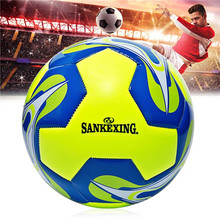 SANKEXING Soccer Ball Standard Size 5 PU Leather Genuine Seamless Training Anti-slip Official Football Professional Soccer Balls(China)