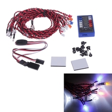 Hot Sell 1Set 12 LED Flashing Head Light Lamp System 2.4G CH2 Kit For RC 1:10 Scale Car Truck Accessories