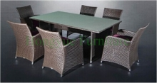 Rattan wicker dining room sets furniture,home dining furniture(China)